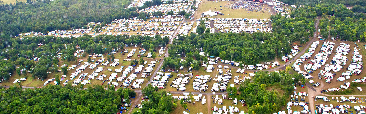 Ariel view of the Havelock Jamboree grounds